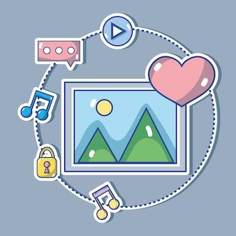 Social media technology global communication