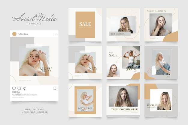Social media template banner blog fashion sale promotion.