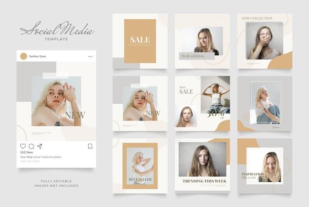 ソーシャルメディアテンプレートバナーブログファッション販売促進。