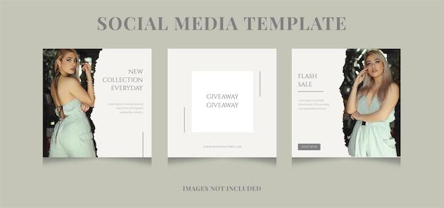 Social media template banner fashion sale promotion