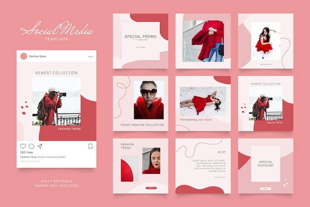 ソーシャルメディアテンプレートバナーファッション販売促進。