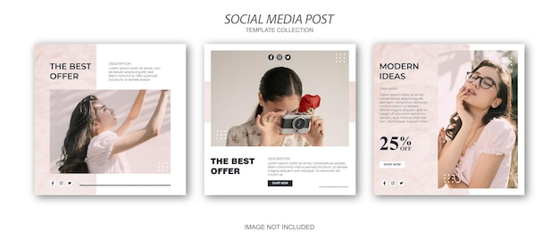 Social media template fashion sale promotion