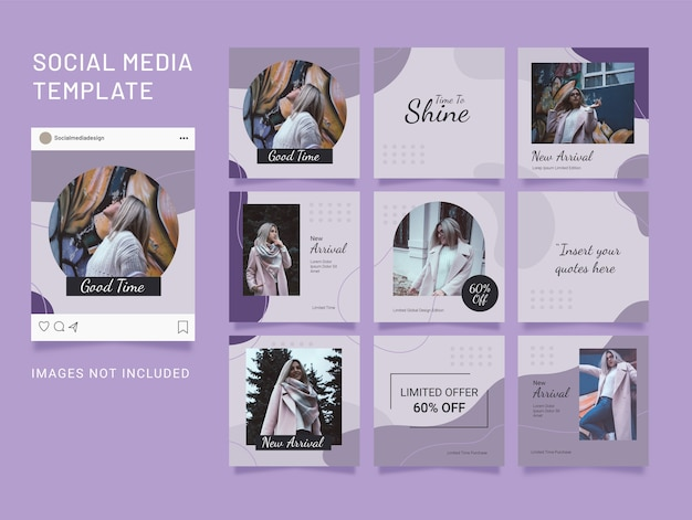 Social media template post fashion women puzzle