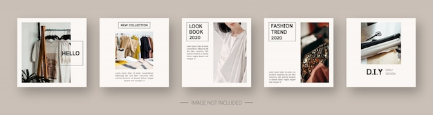Social media template. trendy editable social media post template. isolated. template design. illustration.