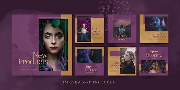 Social media templates for fashion product
