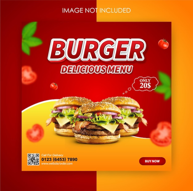 Social media templates for fast food