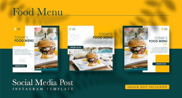 Social media templates for food sales