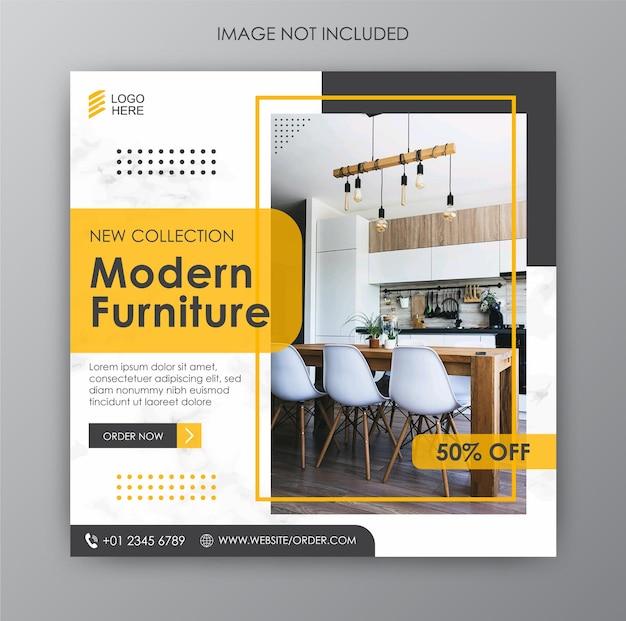 Шаблоны социальных сетей для продажи мебели