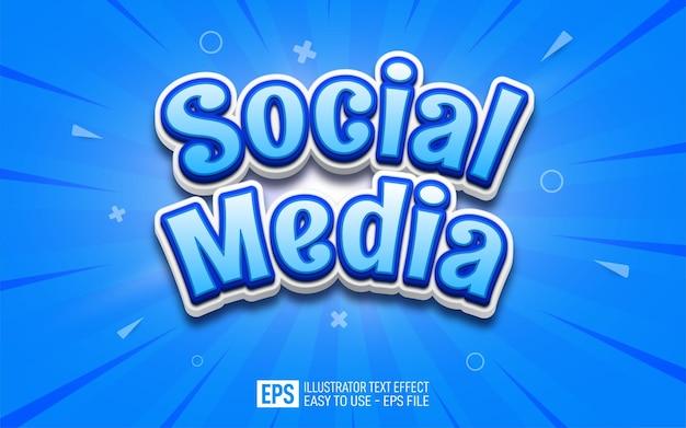 Social media text, editable illustrator text effect