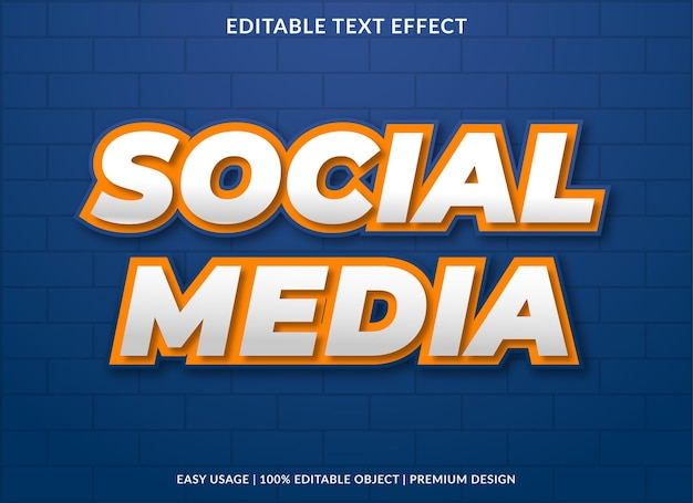 Social media text effect template premium style