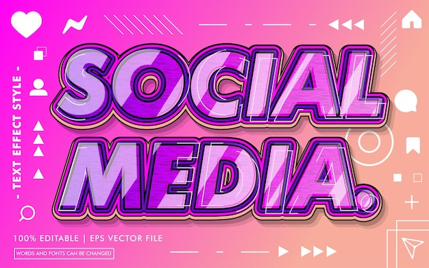 소셜 미디어 텍스트 효과 스타일