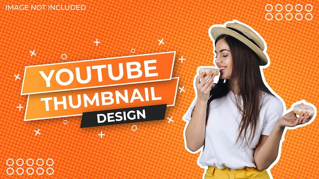 Social media thumbnail design with abstract background pattern