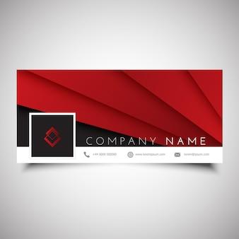 Дизайн обложки временной шкалы социальных сетей с абстрактным дизайном