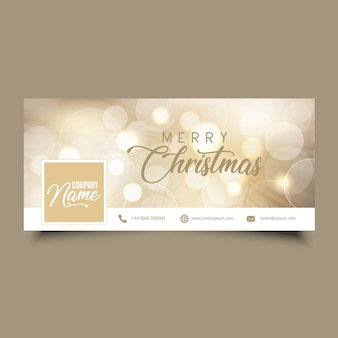 Social media timeline cover with Christmas design