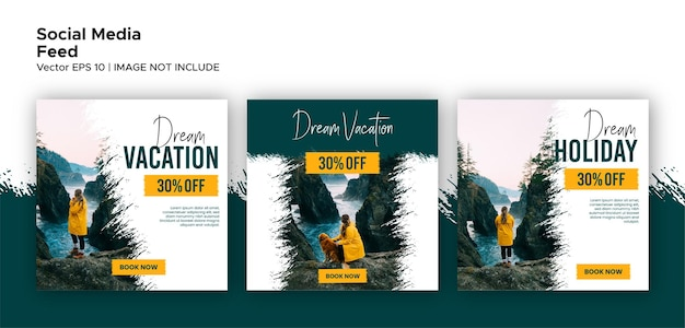 Social media traveling post and feed promotion bundle