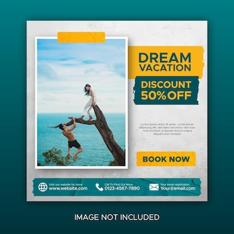 Social media traveling post and feed promotion