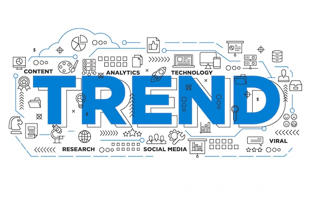 Social media trending iconic background