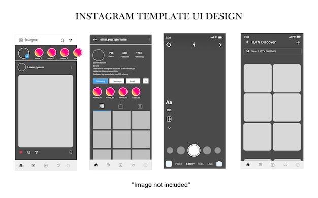 모바일 애플리케이션을 위한 소셜 미디어 ui 디자인 인터페이스