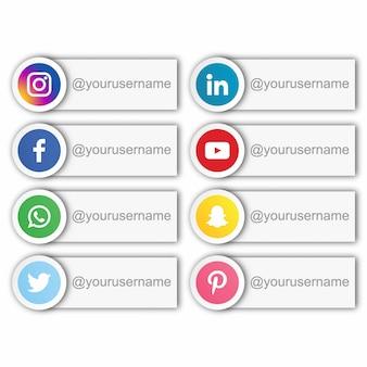 Social media username