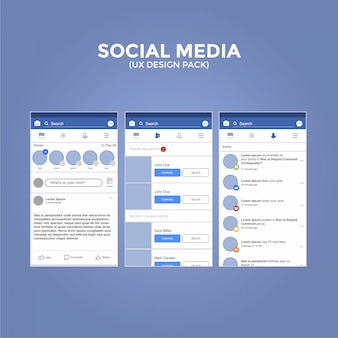 Social Media UX Design Pack