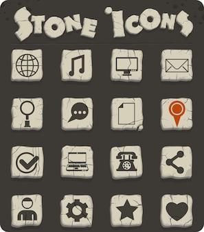웹 및 사용자 인터페이스 디자인을 위한 소셜 미디어 벡터 아이콘