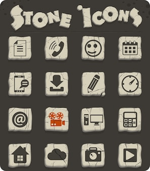 Webおよびユーザーインターフェイスデザインのソーシャルメディアベクトルアイコン