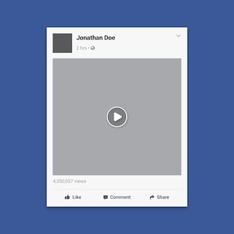 Social media video frame template