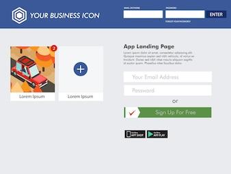 Social media website landing page