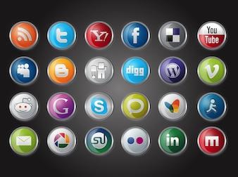 Social media website logos vector