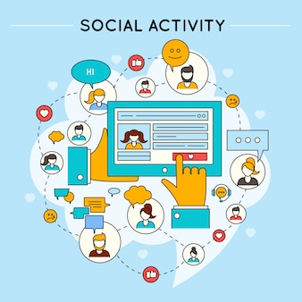 Social network activity design