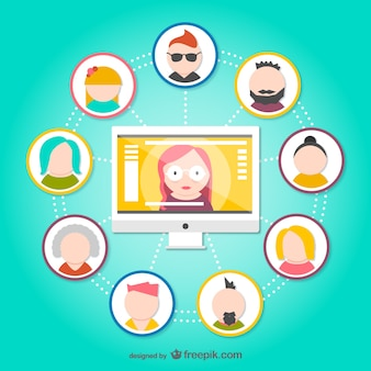 Social network avatars