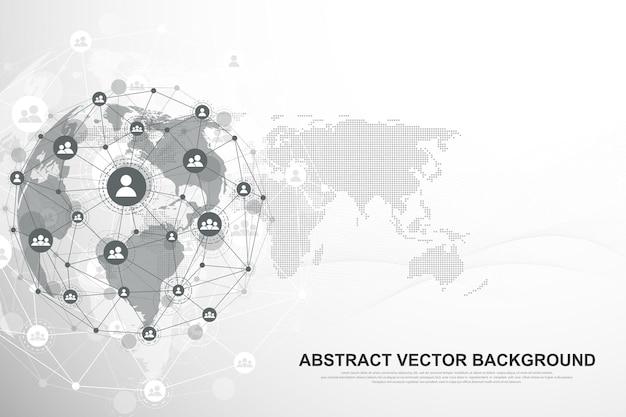 Социальная сеть общения в иллюстрации интернет-технологий