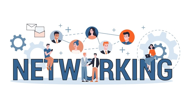 Social network concept. communication and connection around the world. global community of different people. worldwide technology concept.   illustration