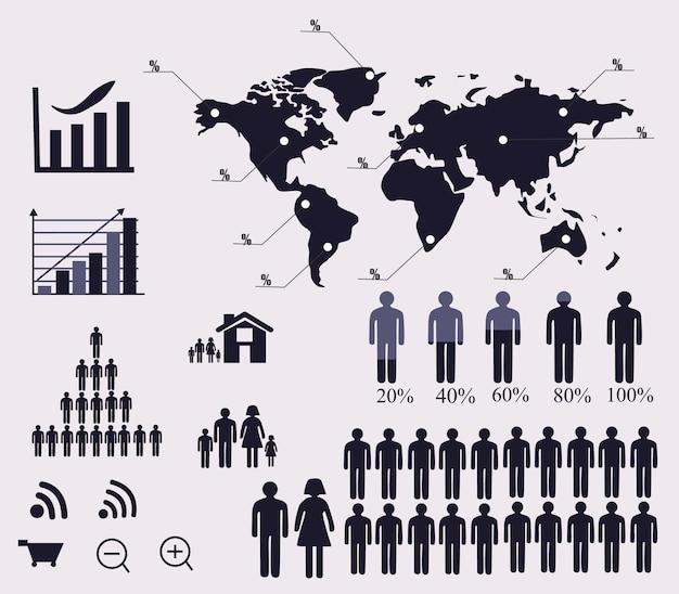 ソーシャルネットワークの概念ミクストメディアコミュニケーションと世界中の仕事上のコミュニケーション
