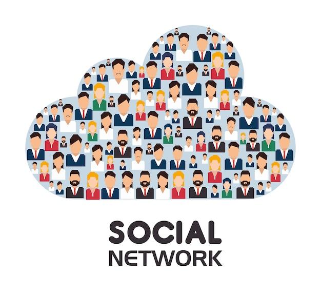 ソーシャルネットワーク設計。