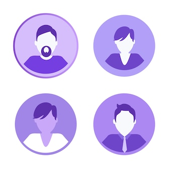 Social network icons people vector illustration