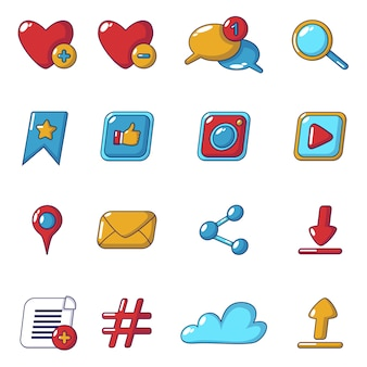 Social network icons set