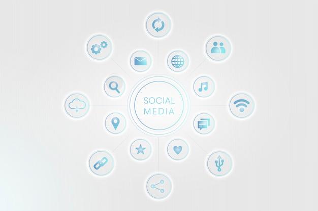 소셜 네트워크 아이콘