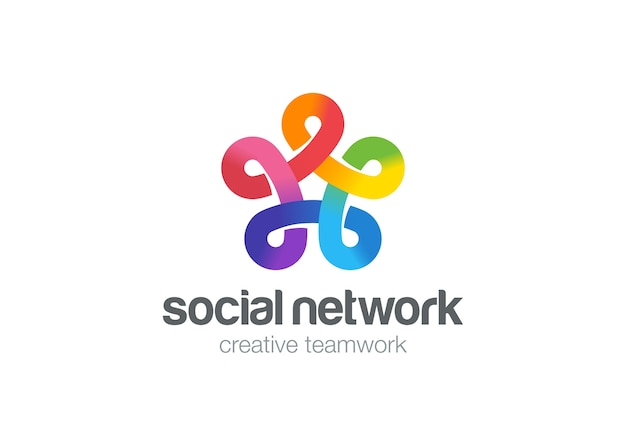 소셜 네트워크 로고.