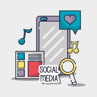 Social network media connection element