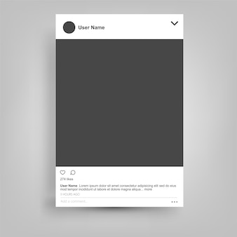 Social network posting frame isolated