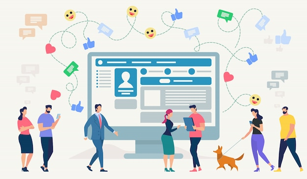 Social network site. vector illustration.