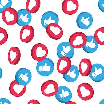 Социальная сеть символ бесшовные модели.