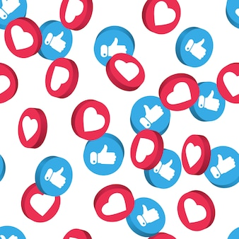 Social network symbol seamless pattern.
