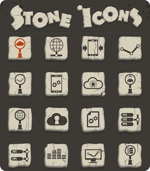 웹 및 사용자 인터페이스 디자인을 위한 소셜 네트워크 벡터 아이콘