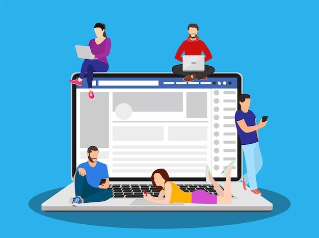 Social network web site surfing concept