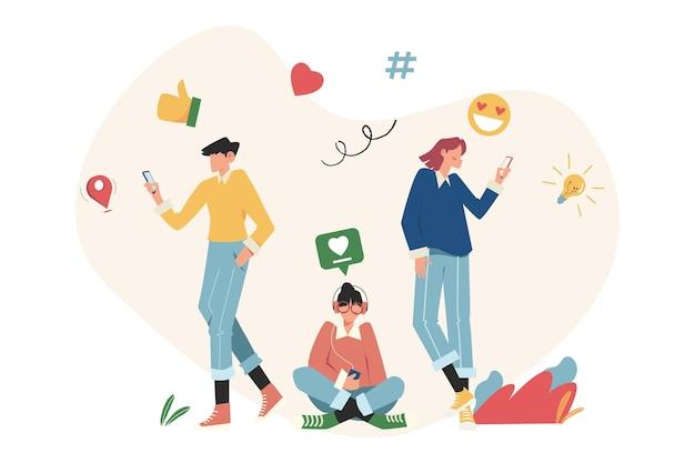 소셜 네트워킹, 채팅, 비디오, 뉴스, 메시지, 웹 사이트