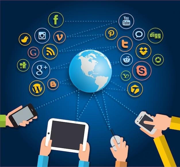 소셜 네트워크 상호 작용 개념
