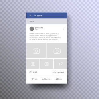 Social page interface concept on mobile  .