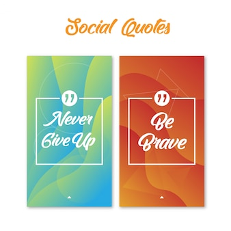 Social quotes with abstract background